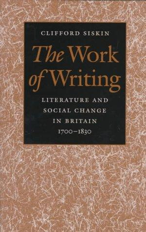 Download The work of writing