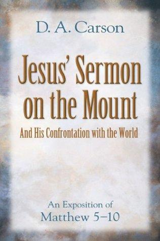 Jesus's Sermon on the Mount by Carson, D. A.