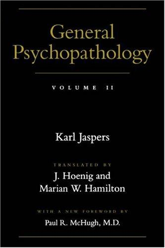 General psychopathology by Karl Jaspers