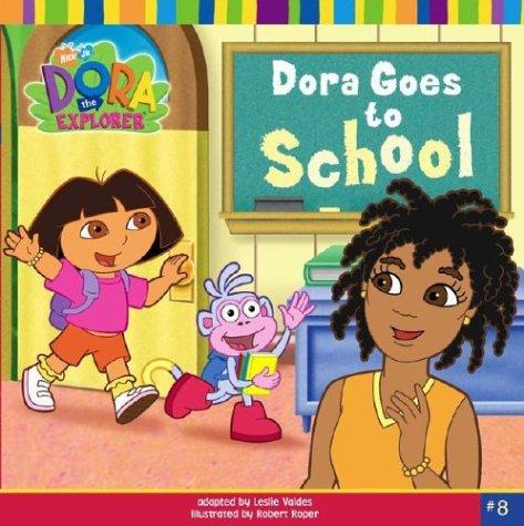 Dora goes to school by