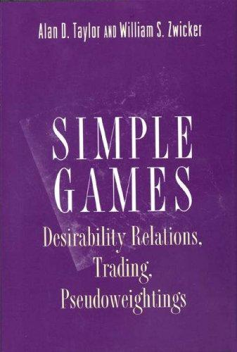Simple games by Alan D. Taylor